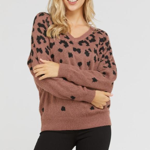202b06dfb230 Sweaters | Only 1 Left Vneck Leopard Print Sweater | Poshmark